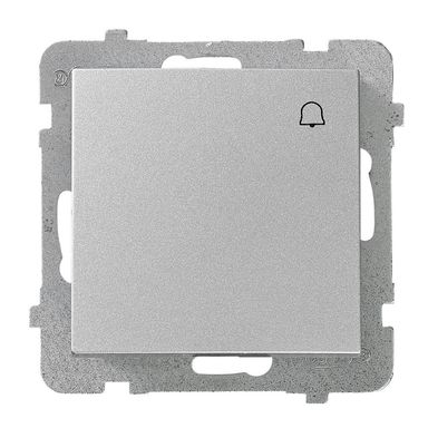 Przycisk dzwonka AS srebrny  OSPEL
