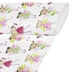 Tkanina dziecięca na mb różowo-zielona szer. 280 cm