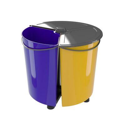 Kosz na śmieci do zbiórki selektywnej ECOBIN PLUS MULTIM