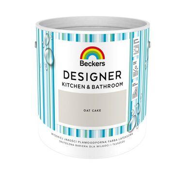 Farba wewnętrzna DESIGNER KITCHEN & BATHROOM 2.5 l Oat cake BECKERS