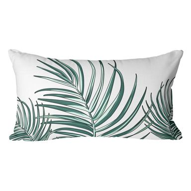 Poduszka w liście Bahama Palmas zielona 50 x 30 cm