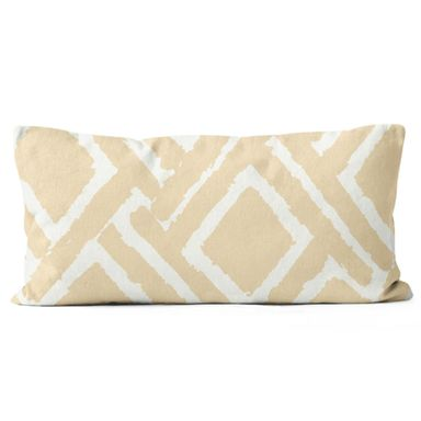 Poduszka bawełniana Jane beżowa 50 x 30 cm