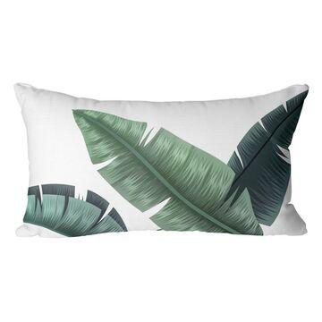 Poduszka w liście Bahama Caliente zielona 50 x 30 cm