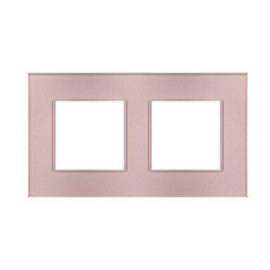 Ramka podwójna ROSA różowy metalik POLMARK