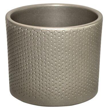 Osłonka ceramiczna 15 cm srebrna perłowa WALEC