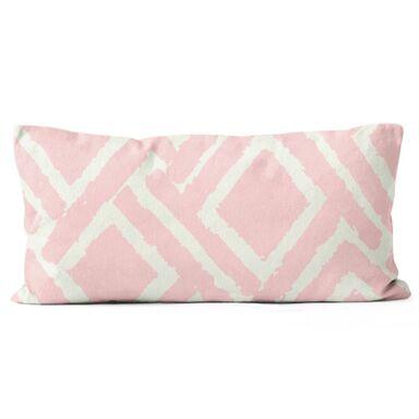 Poduszka bawełniana Jane różowa 50 x 30 cm