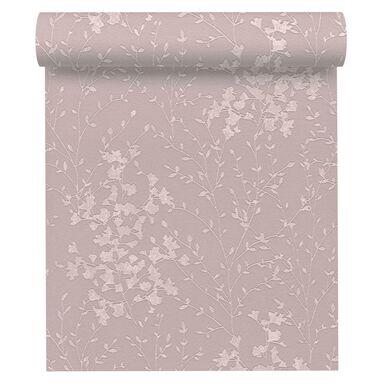 Tapeta w drobne listki różowa winylowa na flizelinie