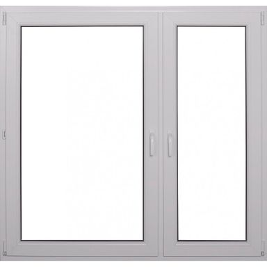 Okno PCV 2-szybowe O34 Białe 1465 x 1435 mm