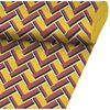 Tkanina zaciemniająca na mb LEIDEN czerwono-żółta szer. 140 cm INSPIRE
