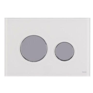 Przycisk spłukujący pojedynczy LOOP biały TECE