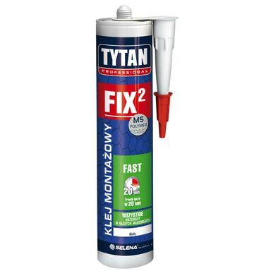 Klej montażowy FIX2 FAST biały 290 ml Tytan Professional