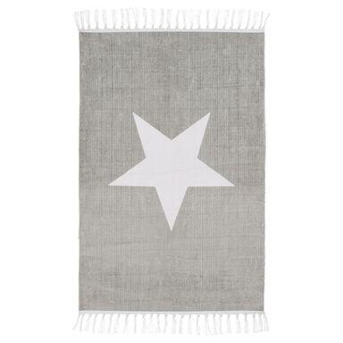 Dywan bawełniany STAR jasnoszary 60 x 90 cm INSPIRE