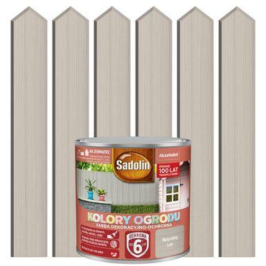 Farba do drewna KOLORY OGRODU 0.25 l Naturalny len SADOLIN
