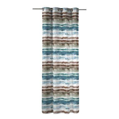 Zasłona NAYARIT niebieska 140 x 270 cm na przelotkach INSPIRE