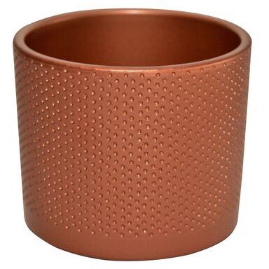 Osłonka ceramiczna 15 cm miedziana WALEC