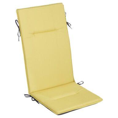 Poduszka na fotel 49 x 122 x 4 cm żółta