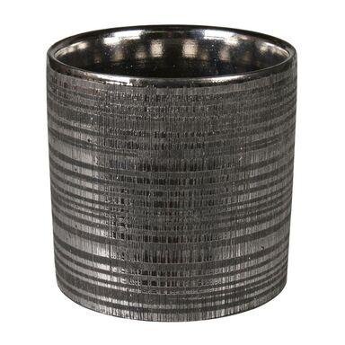 Osłonka doniczki ceramiczna 13.5 cm czarna ARNE