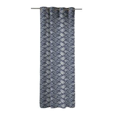 Zasłona VEDZUL niebieska 140 x 270 cm na przelotkach INSPIRE