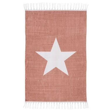 Dywan bawełniany Star różowy 60 x 90 cm Inspire