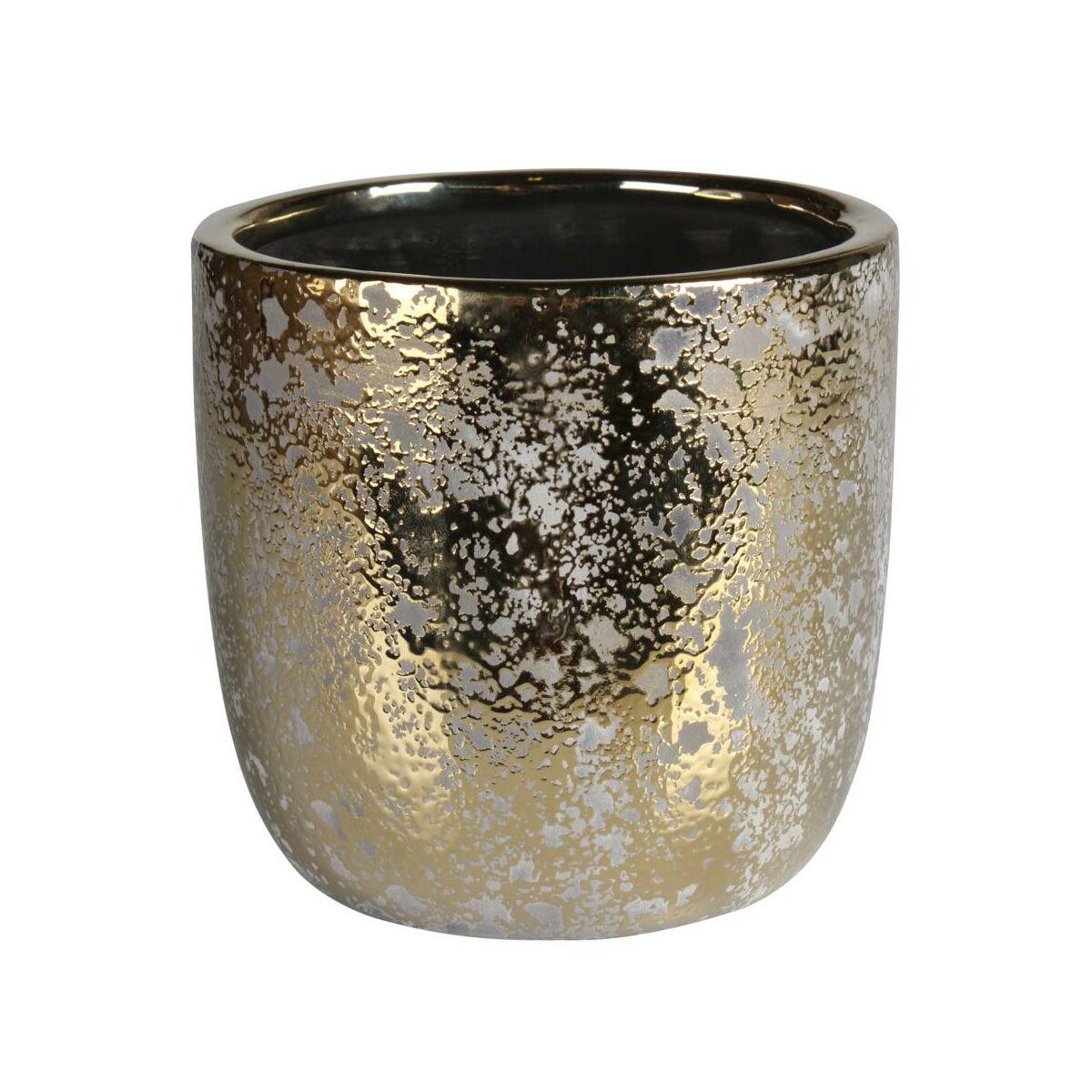Osłonka Doniczki Ceramiczna 11 Cm Złota Guld