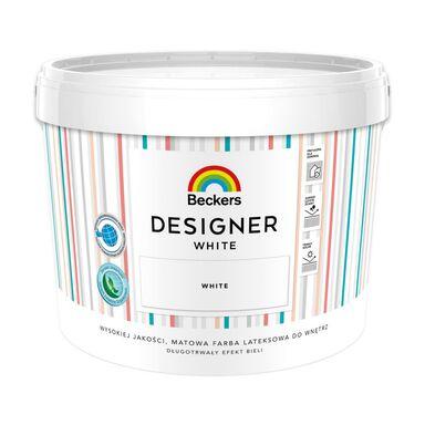 Farba wewnętrzna DESIGNER WHITE 10 l Mat BECKERS