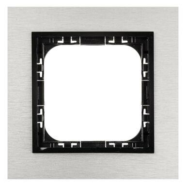 Ramka pojedyncza IMPRESJA  szczotkowane aluminium  OSPEL