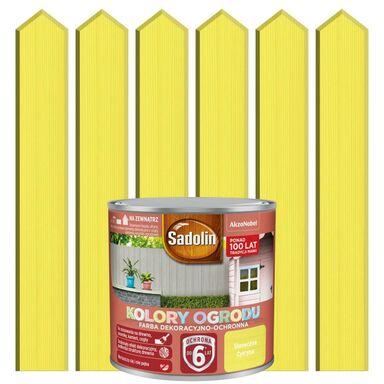 Farba do drewna KOLORY OGRODU 0.25 l Słoneczna cytryna SADOLIN