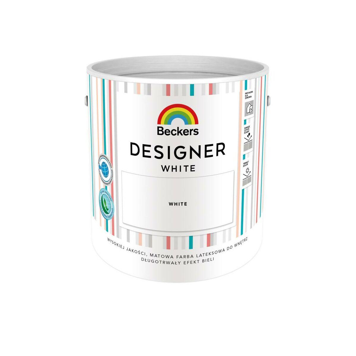 Farba Wewnetrzna Designer White 2 5 L Mat Beckers Farby Scienne Biale W Atrakcyjnej Cenie W Sklepach Leroy Merlin