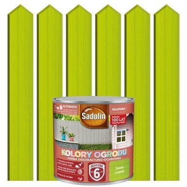 Farba do drewna KOLORY OGRODU 0.25 l Zielona limonka SADOLIN