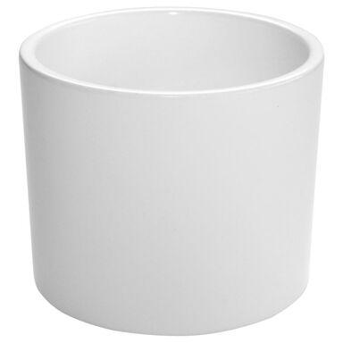 Osłonka ceramiczna 19.4 cm biała WALEC