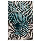Dywan bawełniany PALM zielony 60 x 90 cm INSPIRE