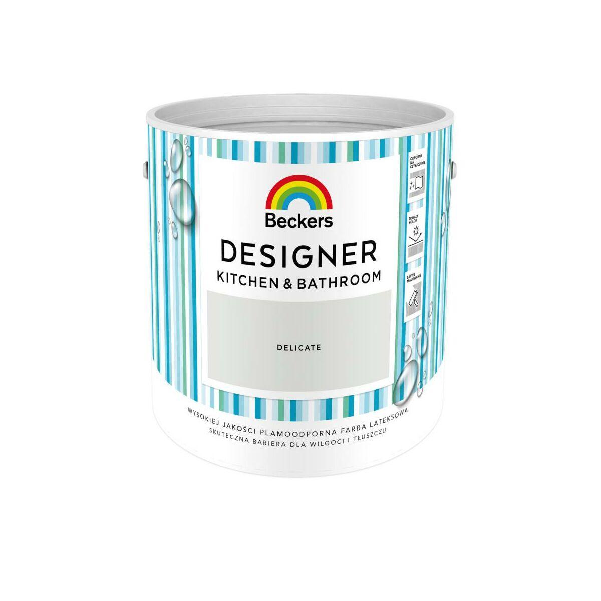 Farba Wewnetrzna Designer Kitchen Bathroom 2 5 L Delicate Beckers Farby Scienne Kolorowe W Atrakcyjnej Cenie W Sklepach Leroy Merlin