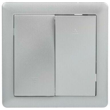 Włącznik żaluzjowy SLIM  Srebrny  LEXMAN