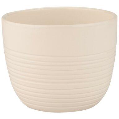 Donica ceramiczna 13.5 cm kremowa PROWANSJA
