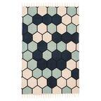 Dywan bawełniany DELIA niebieski 60 x 90 cm INSPIRE