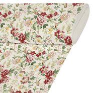 Tkanina na mb czerwona w kwiaty szer. 280 cm