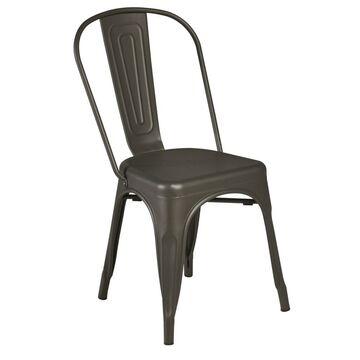 Krzesło ogrodowe SOHO metalowe antracytowe