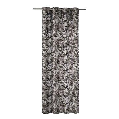 Zasłona NATARE brązowa 140 x 270 cm na przelotkach INSPIRE
