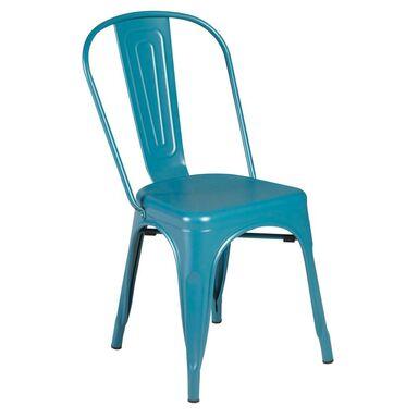 Krzesło ogrodowe SOHO metalowe niebieskie