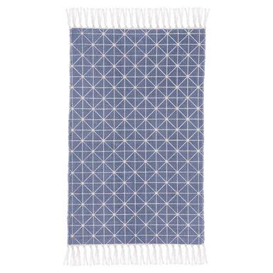 Dywan bawełniany Cloe niebieski 50 x 80 cm Inspire