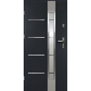 Drzwi zewnętrzne stalowe ADRIANA Antracyt 80 Lewe OK DOORS TRENDLINE