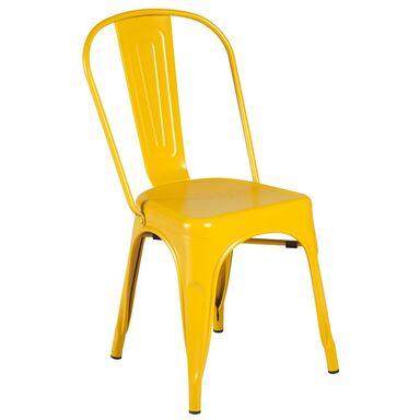 Krzesło ogrodowe SOHO metalowe żółte