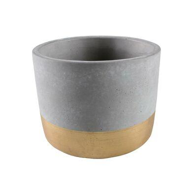 Osłonka doniczki betonowa 14 cm szaro-złota ENAR