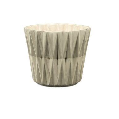 Osłonka ceramiczna 16.5 cm szara GEOMETRIC 2 R2223 EKO-CERAMIKA