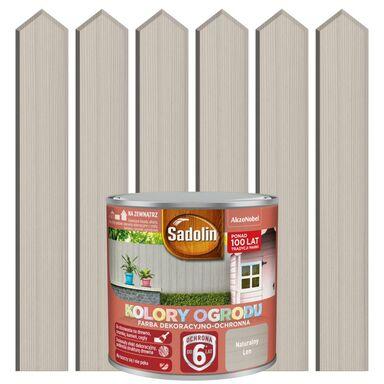 Farba do drewna KOLORY OGRODU 0.7 l Naturalny len SADOLIN