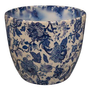 Osłonka ceramiczna 12 cm niebieska WENUS