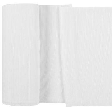 Firana na mb Geada biała w pasy wys. 330 cm