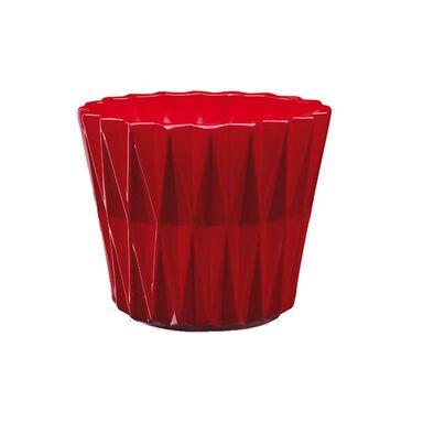 Osłonka ceramiczna 12 cm czerwona GEOMETRIC 1 J20 EKO-CERAMIKA