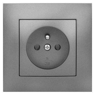 Gniazdo pojedyncze CARLA Grafit ELEKTRO-PLAST