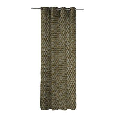Zasłona SANTI brązowa 140 x 270 cm na przelotkach INSPIRE